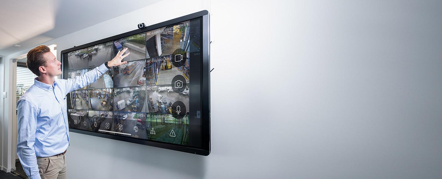 camerabewaking voor bedrijf op grote Android TV